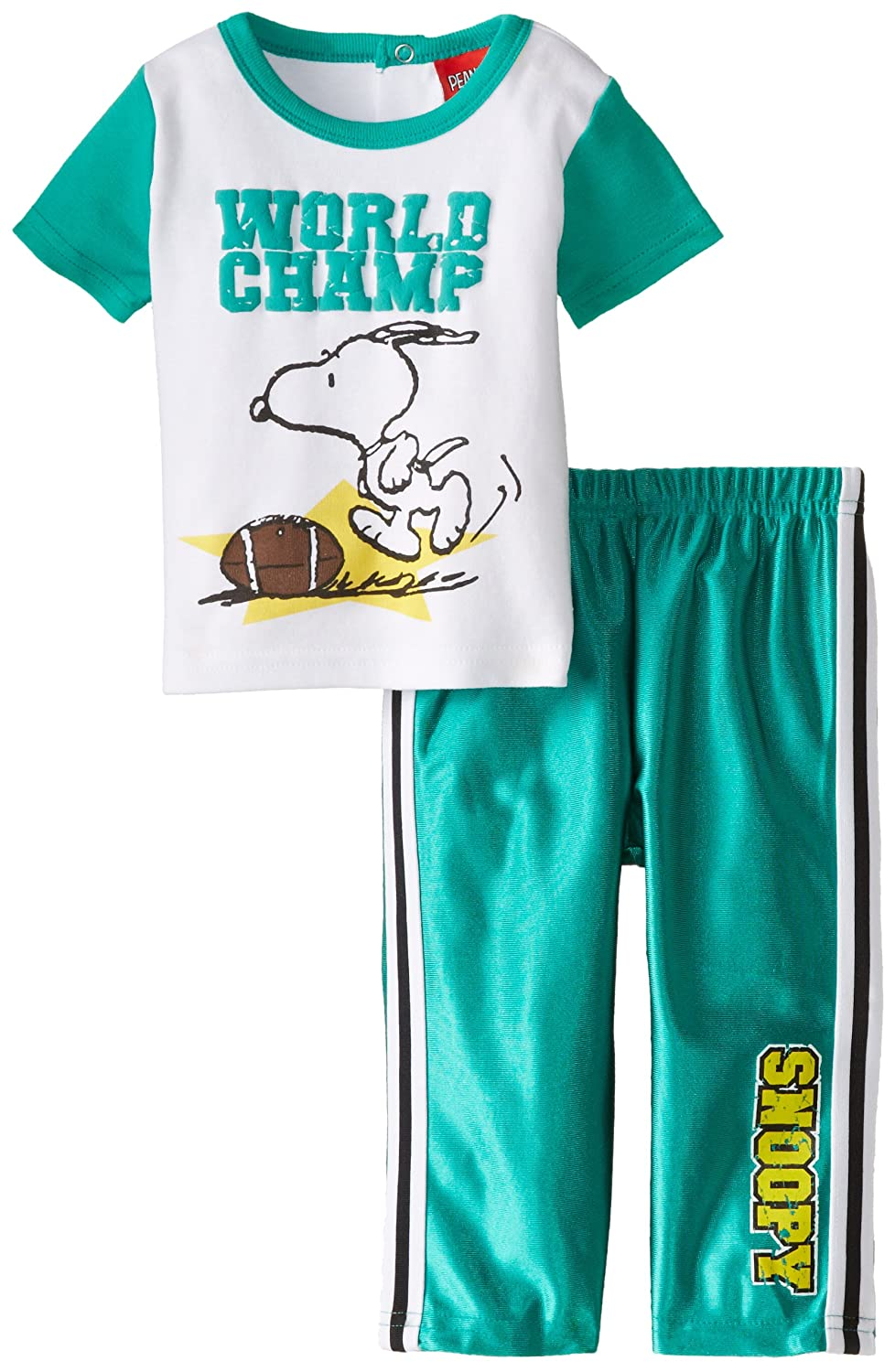 Peanuts Baby Boys' 2pc Top and Pant Set Multi 6 Months PZNB7421