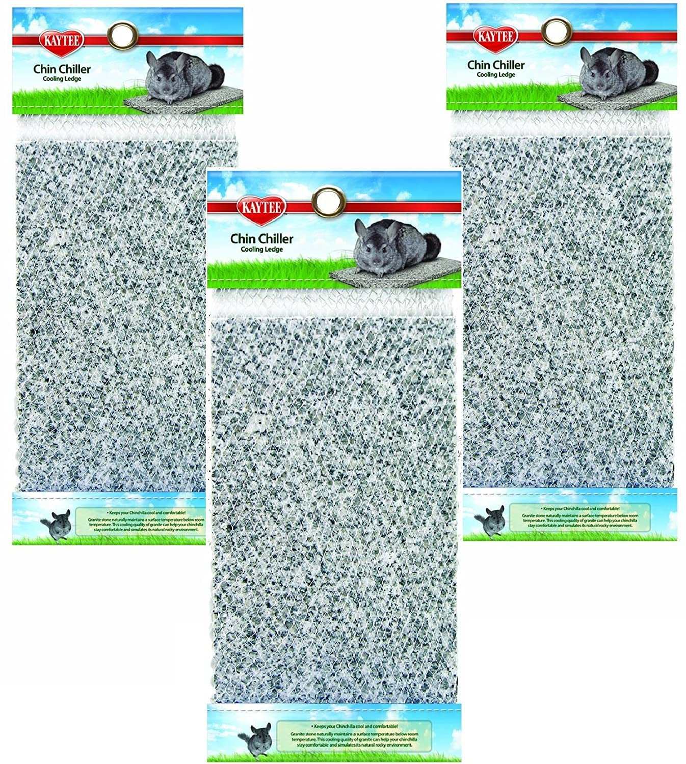 KT (3 Pack) Chinchilla Chiller Granite Stones