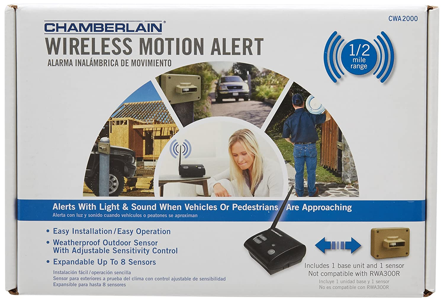 Amazon.com: Chamberlain CWA2000 Wireless Motion Alert: Health & Personal Care