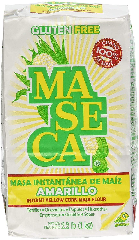 Maseca Instant Yellow Corn Masa Flour 2.2lb | Masa Instantanea de Maiz Amarillo 1kg