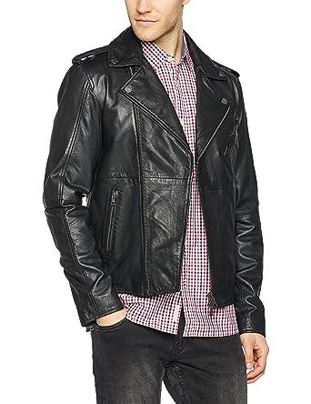 Tommy Jeans Herren LEATHER BIKER 52 Langarm Jeansjacke Jacke  Amazon.de   Bekleidung da986c8c68