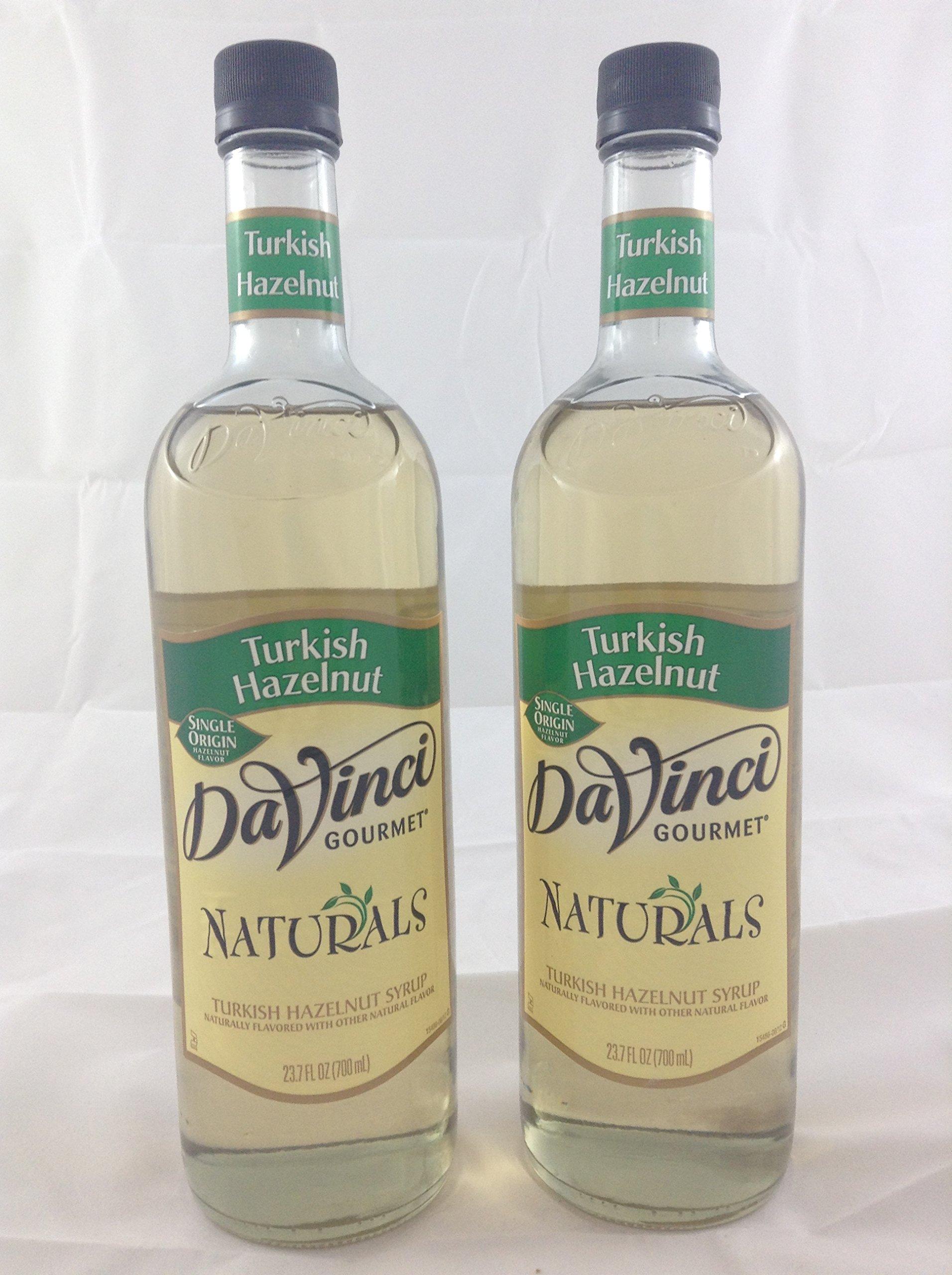 DaVinci Gourmet Natural Instincts Turkish Hazelnut Flavored Syrup 2 Bottles
