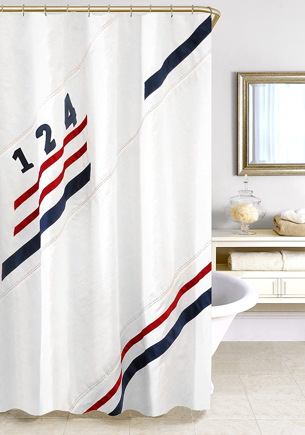 Amazon Homewear 75055 SHWR Set Sail Shower Curtain 70 X 72Multi Home Kitchen