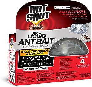 Hot Shot 100046261 Ultra Liquid Ant Bait, 4-Count, Pack of 1