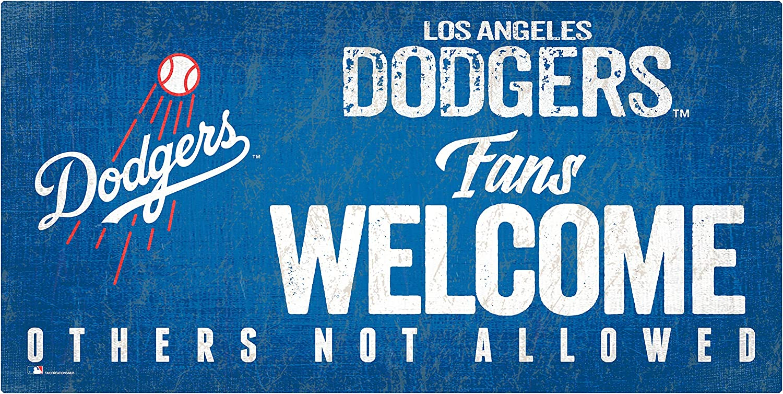 Fan Creations MLB Los Angeles Dodgers Unisex Los Angeles Dodgers Fans Welcome Sign, Team Color, 6 x 12 (M0847-Dodgers)