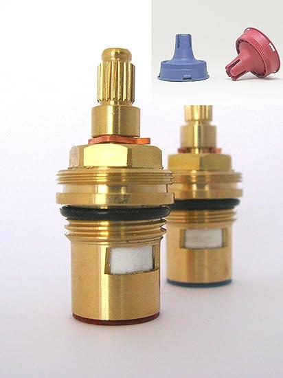 Ceramic Disc Stem cartridge faucet Tap valve Quarter turn insert ...
