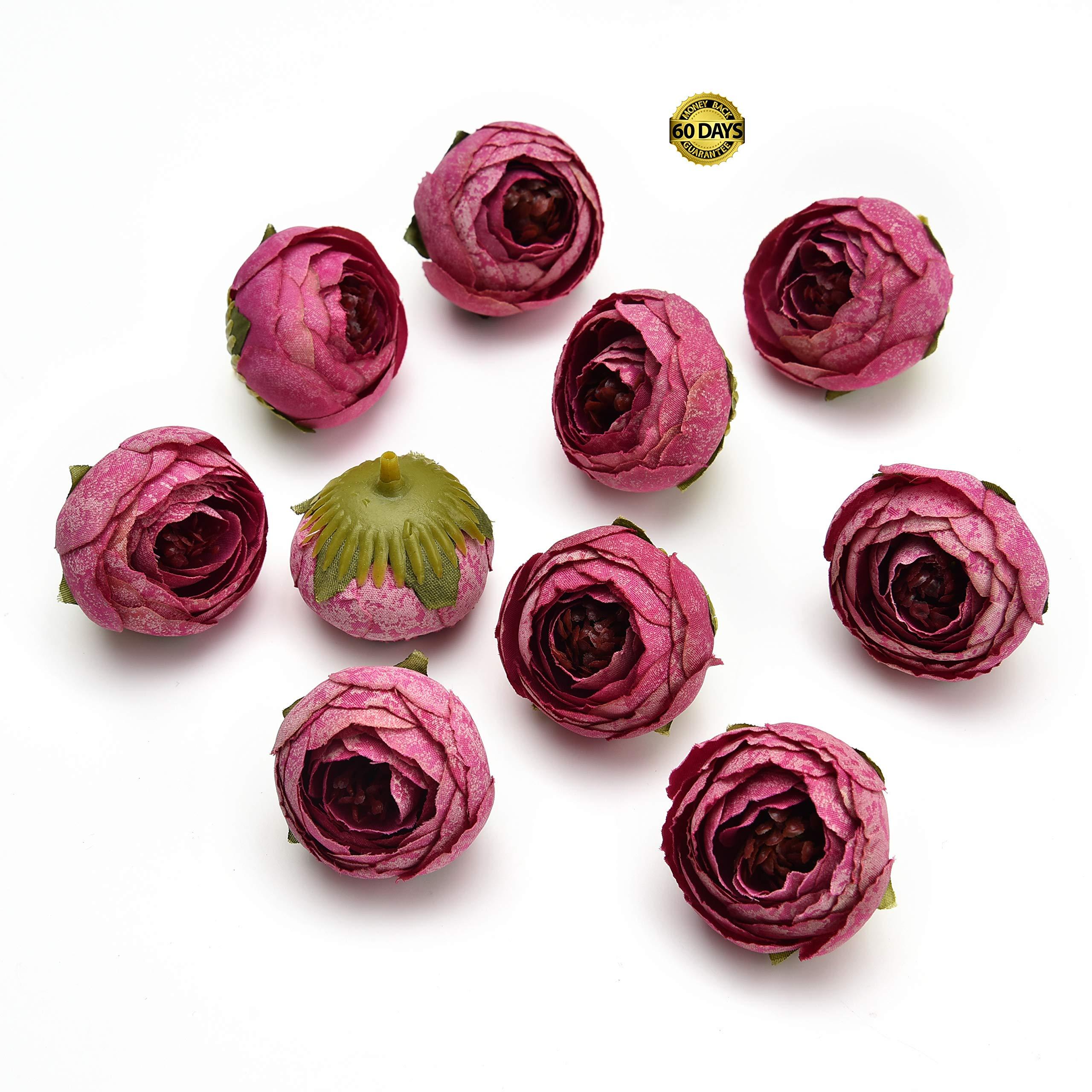 Artificial Fake Flower Silk Rose Little Peony Heads Bulk Wedding Party Home Deco