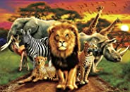 Buffalo Games - Amazing Nature Collection - African Beasts - 500 Piece Jigsaw Puzzle