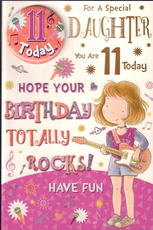 "SON 11th BIRTHDAY CARD /& BADGE ~ AGE 11 TODAY DESIGN ~ NICE CARD 9/"" x 6/"""