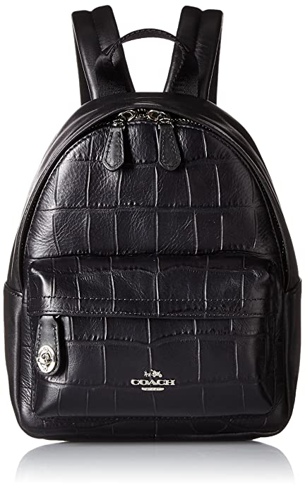 897411f7ef Coach Mini Campus Backpack In Croc Embossed Leather 37713 Black Backpack   Amazon.ca  Shoes   Handbags