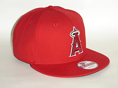 buy popular 2b798 2ec4f ... official store amazon new era mlb los angeles angels of anaheim red  snapback cap 9fifty sports