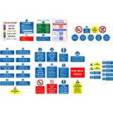 Kitchen safety signs full pack - 45 Qty Various self adhesive labels