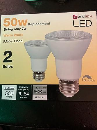 Review Utilitech 2-Pack 7-Watt (50W