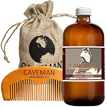 Hand Crafted Cedarwood Beard Oil Conditioner 2 Oz By Caveman® Beard Care Shave Shaving & Hair Removal