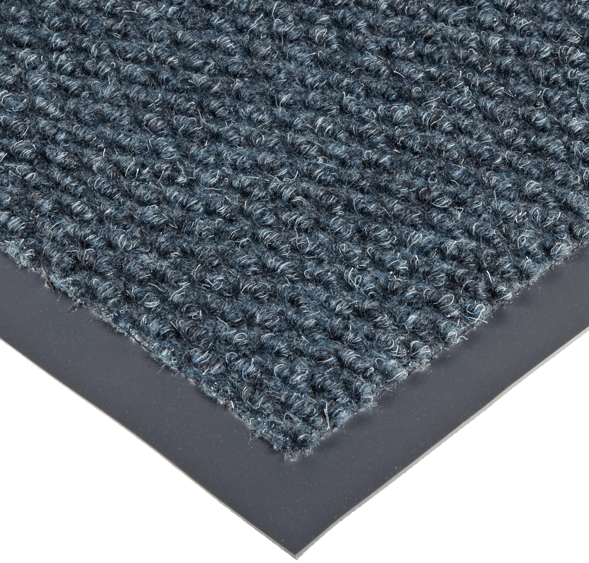 Notrax 136 Polynib Entrance Mat, for Lobbies and Indoor Entranceways, 4' Width x 8' Length x 1/4'' Thickness, Slate Blue