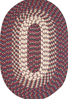 "product image for Hometown 22"" x 108"" (Runner) Braided Rug in Burgundy"