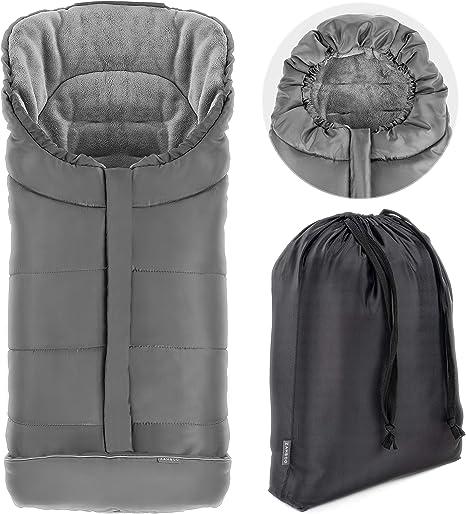 reflectores y bolsa Zamboo Saco de invierno para Silla de Paseo Joie - Saco de abrigo con Forro Polar t/érmico Gris se adapta a Litetrax, Mytrax, Chrome capucha
