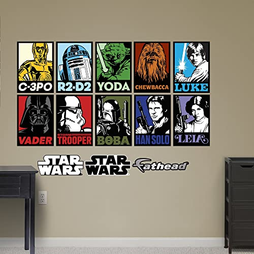 Fathead Star Wars Portraits Wall Decal Collection