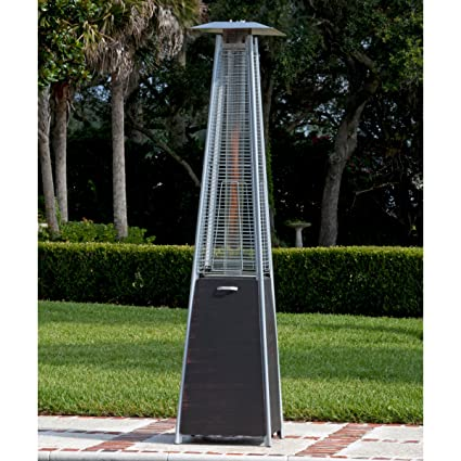 Perfect Top Selling Best Outdoor High Heat Propane Real Flame Fire Pyramid Brushed  Bronze Steel Tower Patio