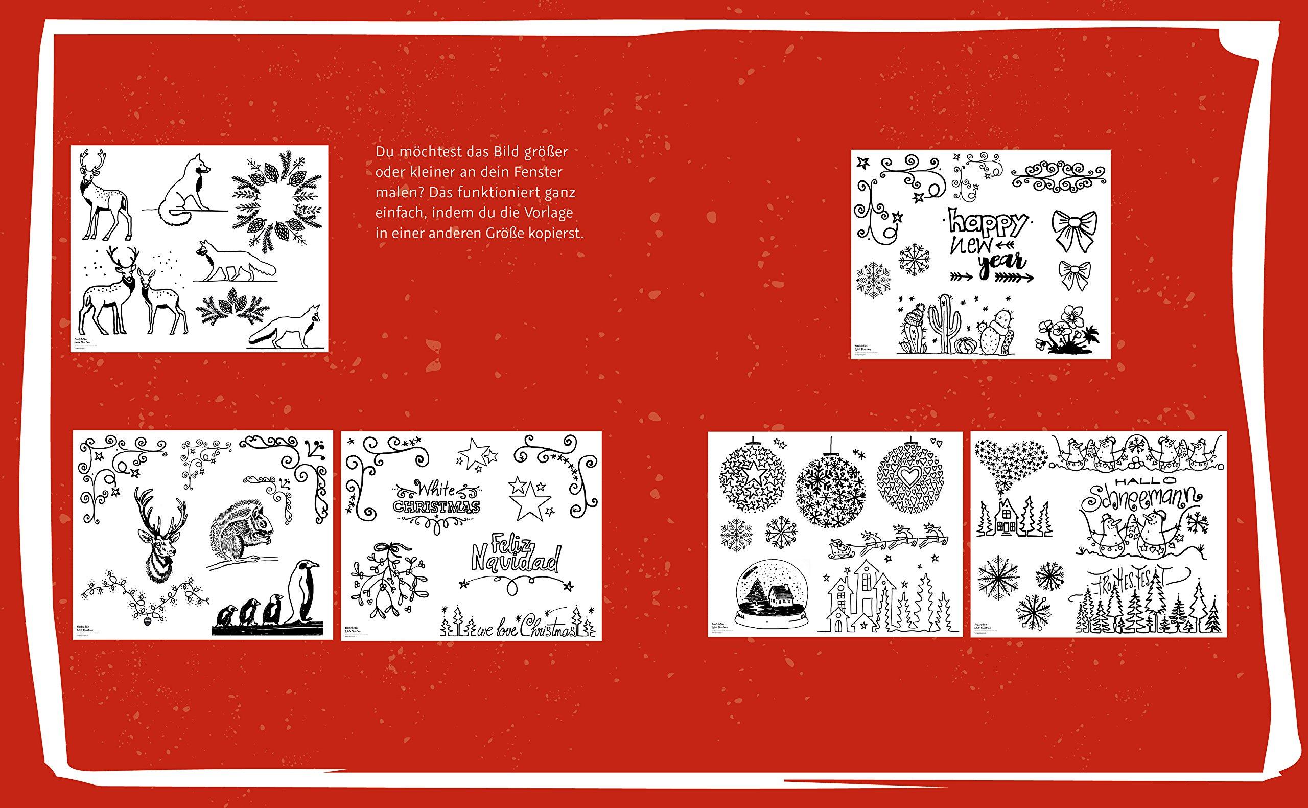 Fensterbilder Malen Mit Dem Kreidemarker White Christmas Mit