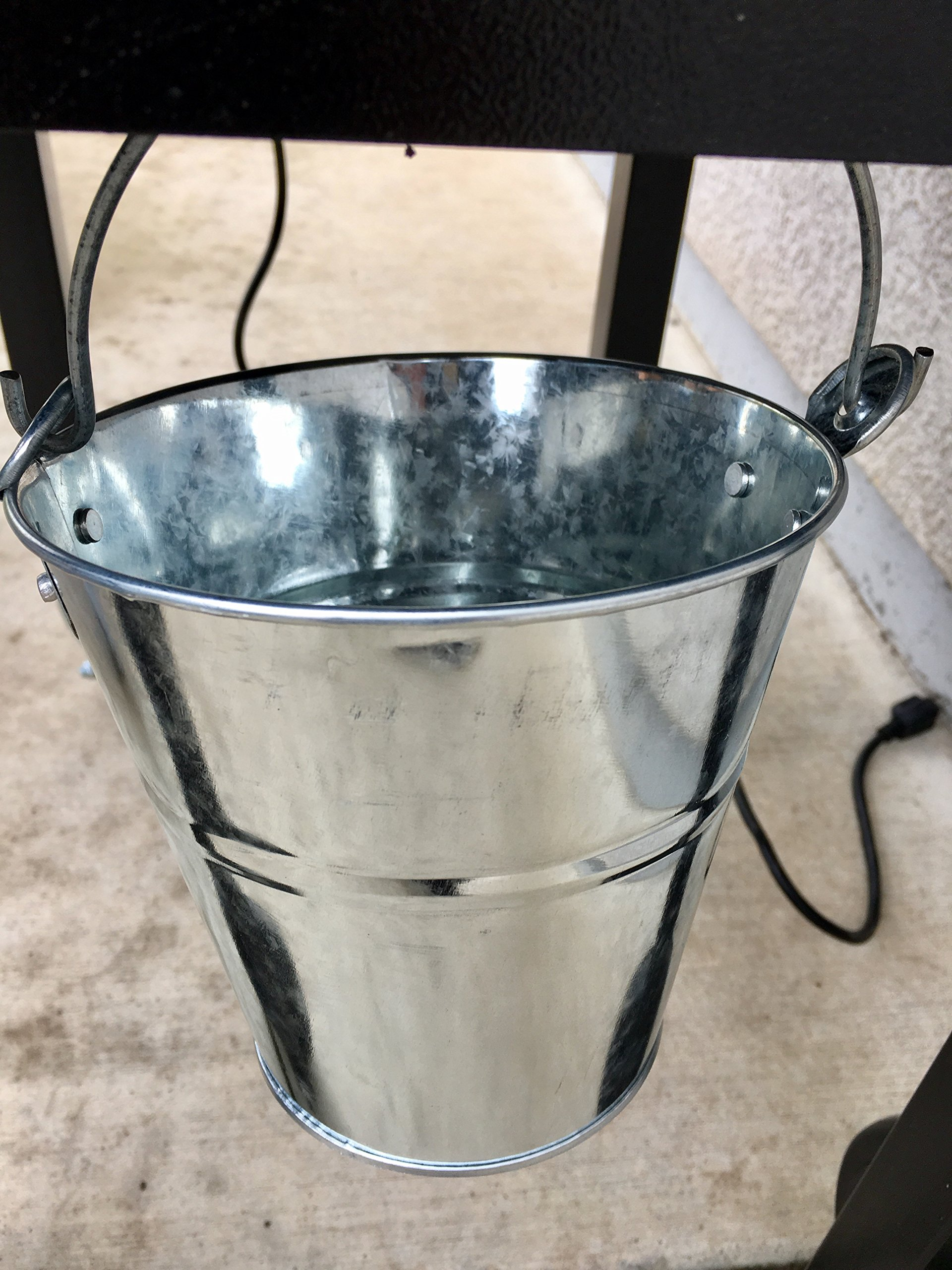 10 LARGE Galvanized BUCKETS 6'' TALL 6.25'' WIDE AT TOP 4'' WIDE AT BOTTOM ARTS CRAFTS WEDDING by DIRECT IGNITER (Image #3)