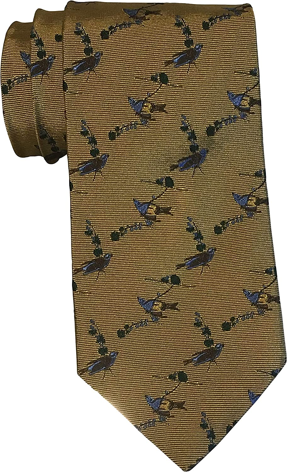 Brooks Brothers For National Audubon Society Gold Bird Tie