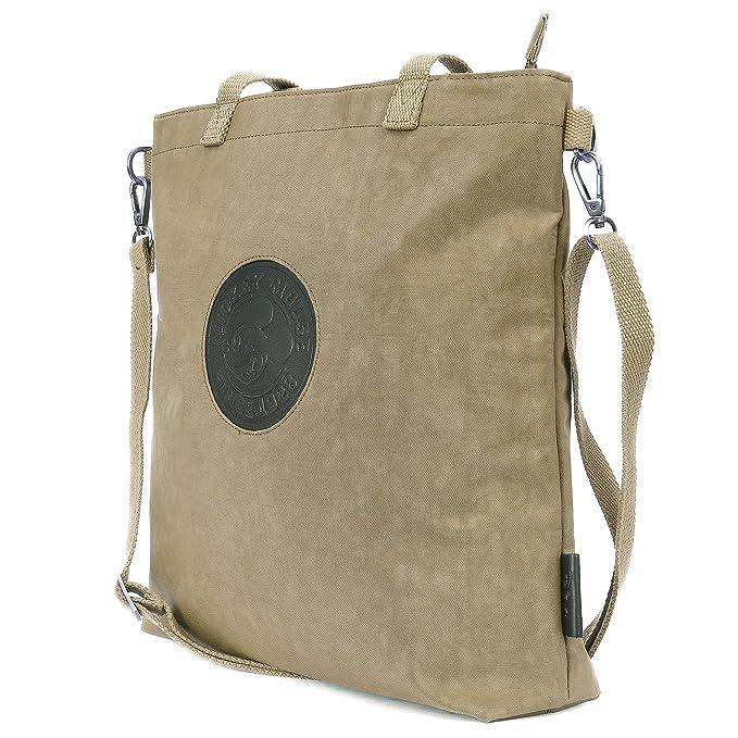 ililily Disney Mickey Mouse Patch Cross Body Vintage Crossbody Shoulder Bag, Dark Beige