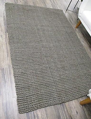Elyson Chunky Jute Textured Handmade Area Rug