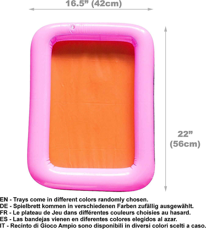 Ecologico 4 colori 2kg 18 Strumenti Precisione Recinto di Gioco Ampio Enorme Pacco di Sabbia Cinetica Scatola Viaggio