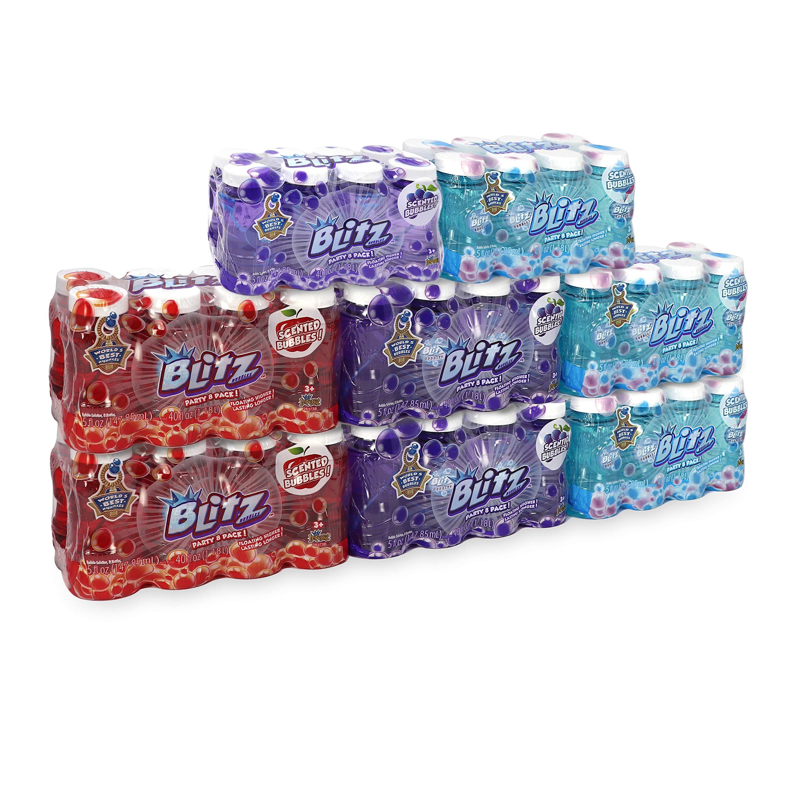 Blitz Scented Bubble Solution, Party Pack of 64 Bottles, 5 oz Each by Blitz Premium Scented Bubbles (Image #1)
