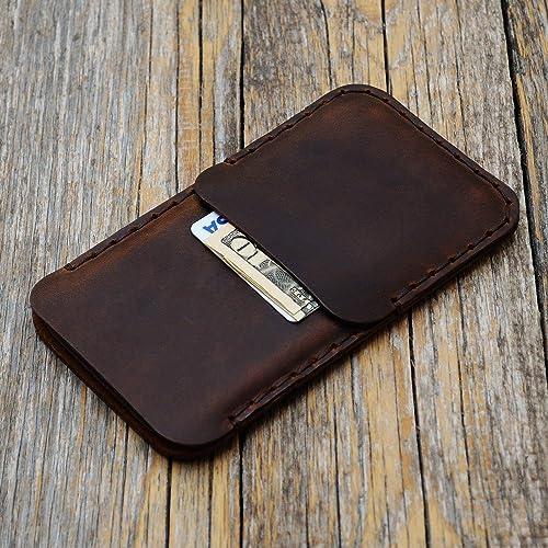 Marrón estuche billetera funda de cuero para iPhone 11 Pro XS X con bolsillos para tarjetas de crédito. Estuche de manga. Cosido a mano.: Amazon.es: Handmade
