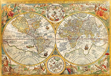 Amazon vintage old world map jigsaw puzzle high quality vintage old world map jigsaw puzzle high quality collection 2000 pieces gumiabroncs Choice Image