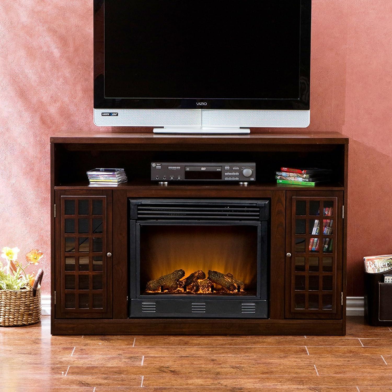 amazon com narita media electric fireplace espresso kitchen