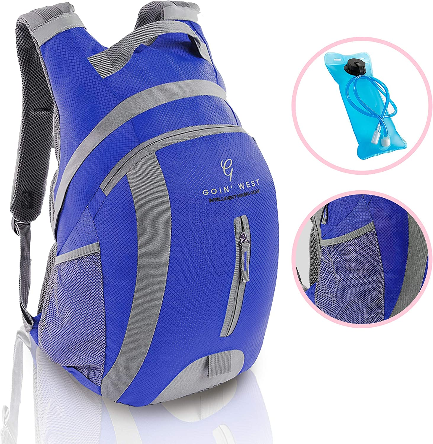30L Hydration Pack Hiking Backpack – Ultralight, Extremely Comfortable with Double Buckle Technology – 2L BPA Free Water Bladder – For Running, Hiking, Backpacking, Cycling Camping.