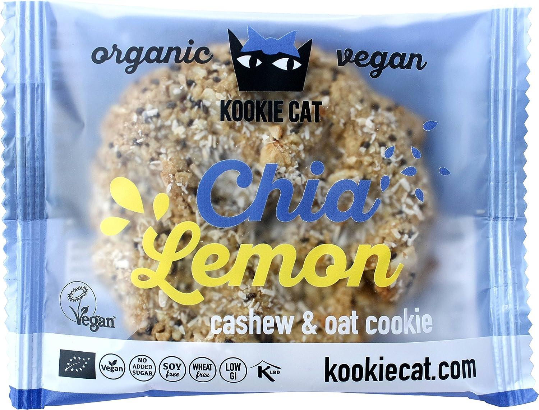 Kookie Cat, Galleta fresca rellena (Chía, Limón) - 12 de 50 gr. (Total: 600 gr.): Amazon.es: Alimentación y bebidas