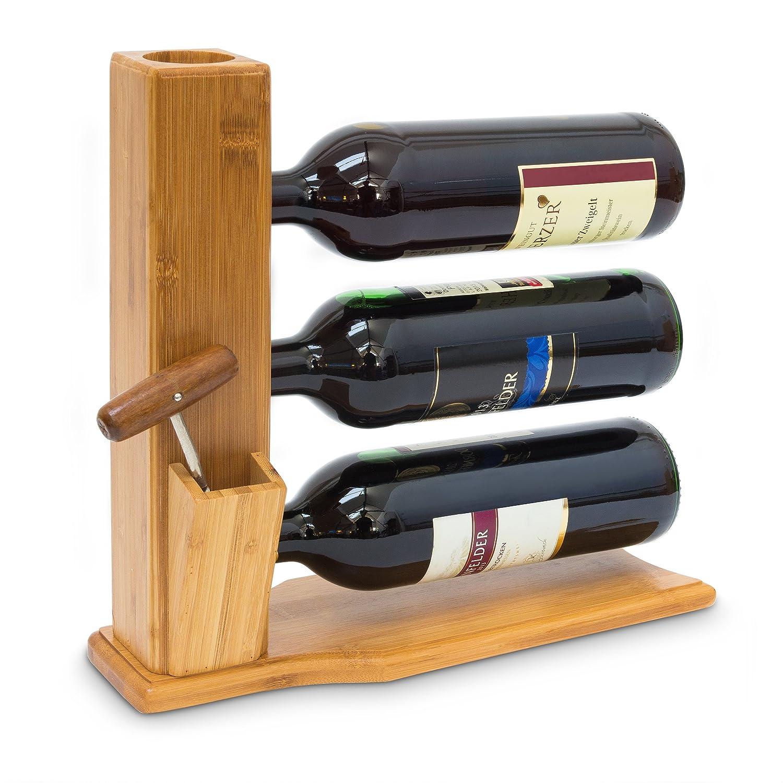 Flaschen Ständer Holz Hand Flaschenhalter Weinständer Geschenkidee Wein Halter