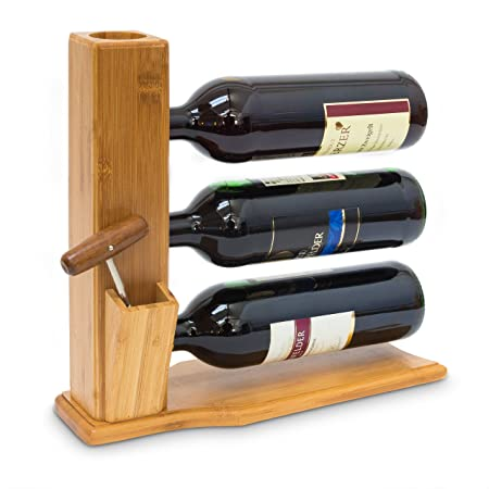 Relaxdays Wine Stand For 3 Bottles 32 X 12 X 34 Cm Wine Shelf Free