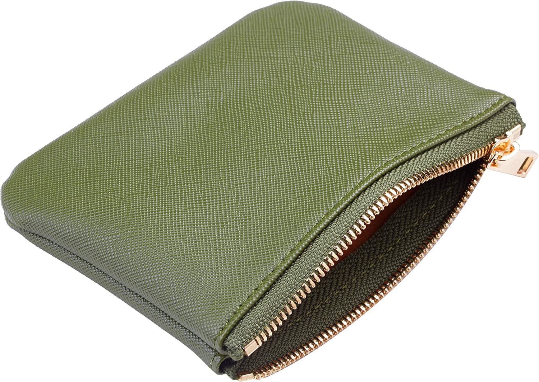 Chelmon Leather Coin Purse Pouch Change Purse With Zipper For Men Women