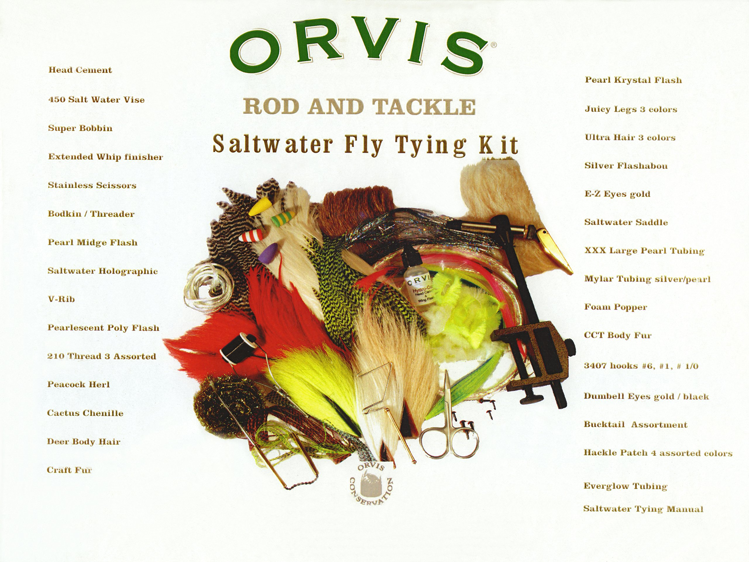 ORVIS SALTWATER FLY TYING KIT by Orvis