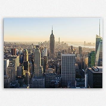 ge Bildet Hochwertiges Leinwandbild - New York City Skyline - 100 x ...