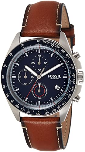 ca5c3777301 Image Unavailable. Image not available for. Colour  Fossil Sport 54  Chronograph Blue Dial Men s Watch ...