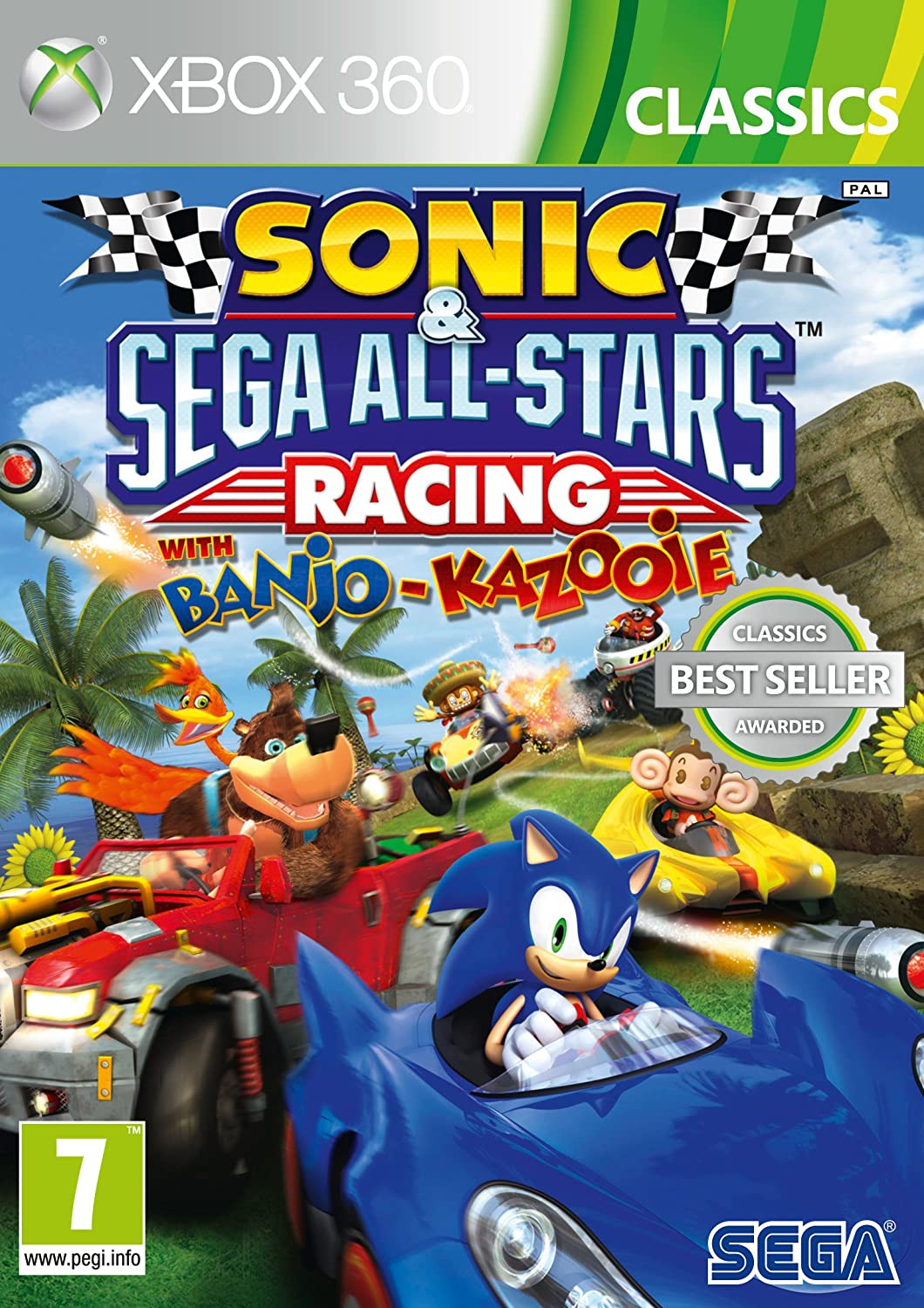 Sonic And Sega All Stars Racing Xbox 360 Importacion Inglesa