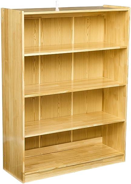 AmazonBasics Wooden Classroom Bookshelf 3 Adjustable Shelves