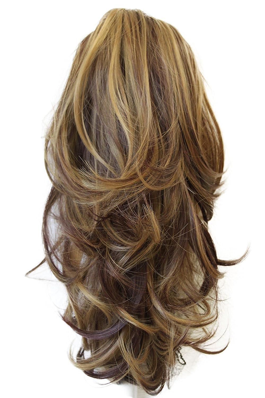 PRETTYSHOP Voluminosa corrugado peluca peluca trenza cola de caballo Cola de caballo fibra sintética 35 cm refractario rubio H102