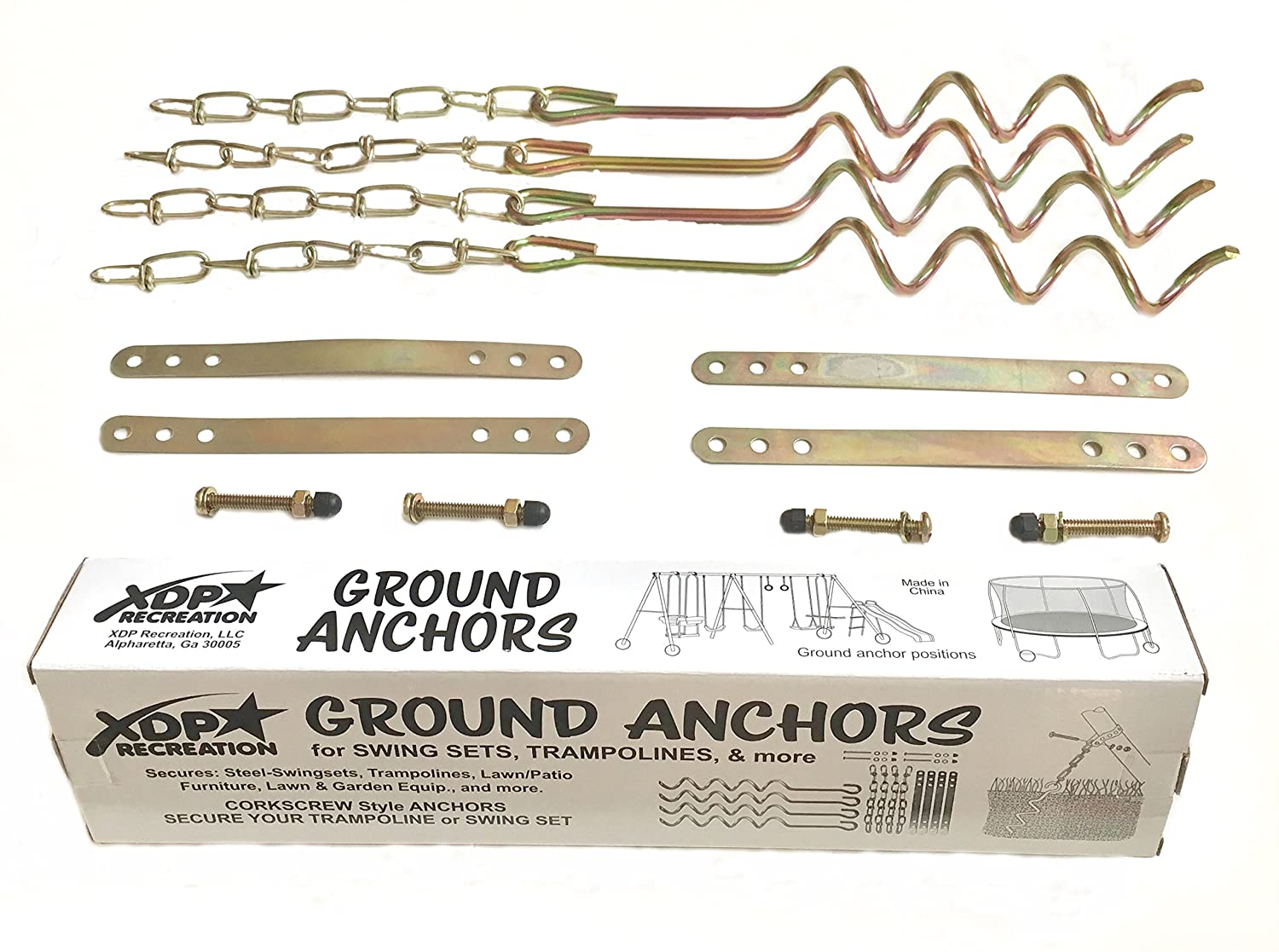 Amazon Com Xdp Recreation Ground Anchor Kit Sports Outdoors
