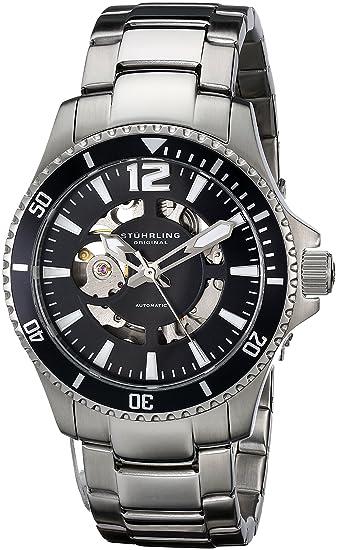 Stührling Original 772.01 - Reloj analógico para Hombre, Correa de Acero Inoxidable, Color Plateado: Amazon.es: Relojes