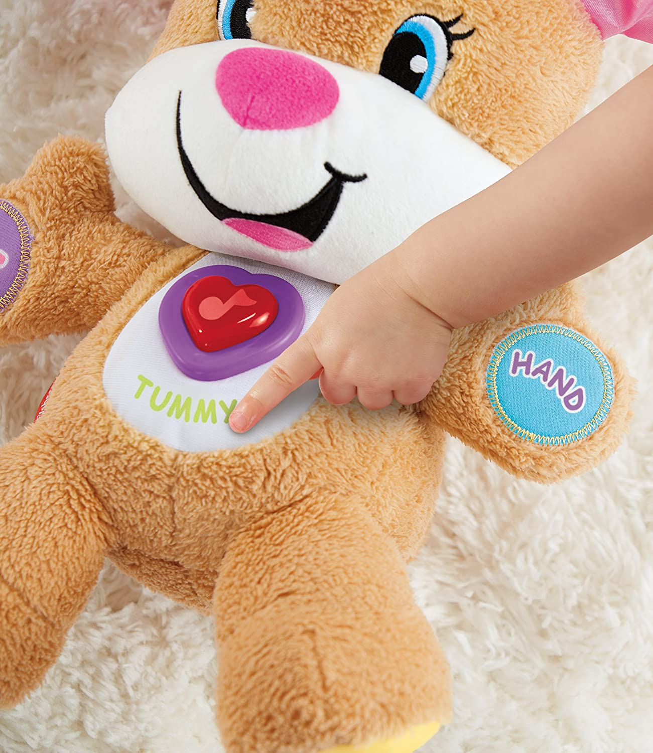 Smart Stages Puppy Fisher-Price Peluche Interactive Version Anglaise Laugh /& Learn