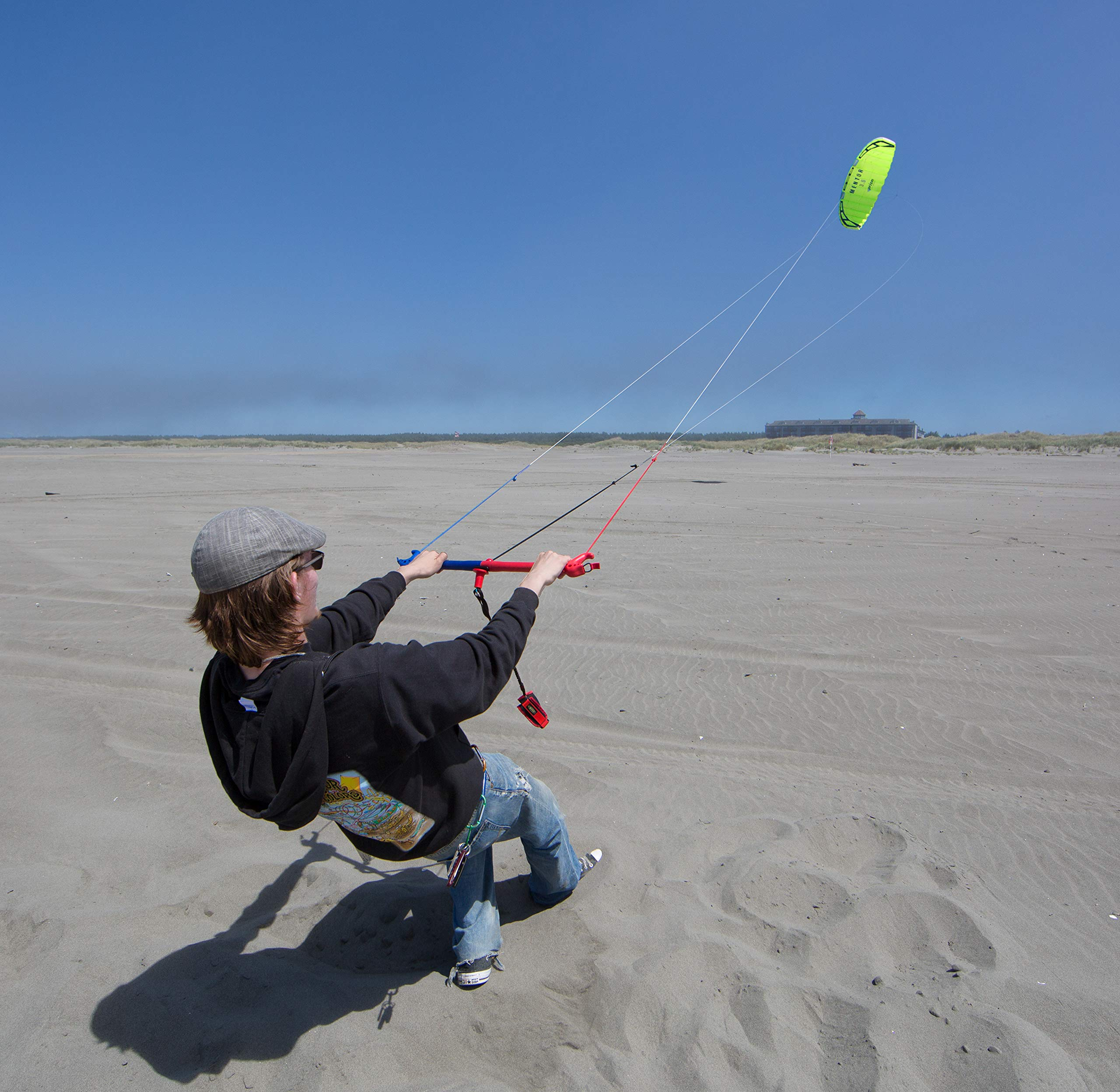 Prism Mentor 2.5m Water-relaunchable Three-line Power Kite Ready to Fly with Control bar, Ground Stake and Quick Release Safety Leash by Prism Kite Technology (Image #3)