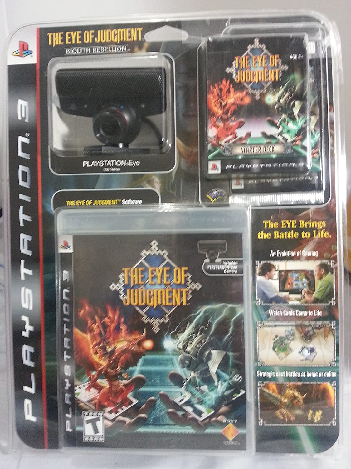 Eye of Judgment Bundle with Game, PS3 Eye, Camera Stand, Starter Deck, Booster Pack and Battle Mat: Amazon.es: Videojuegos