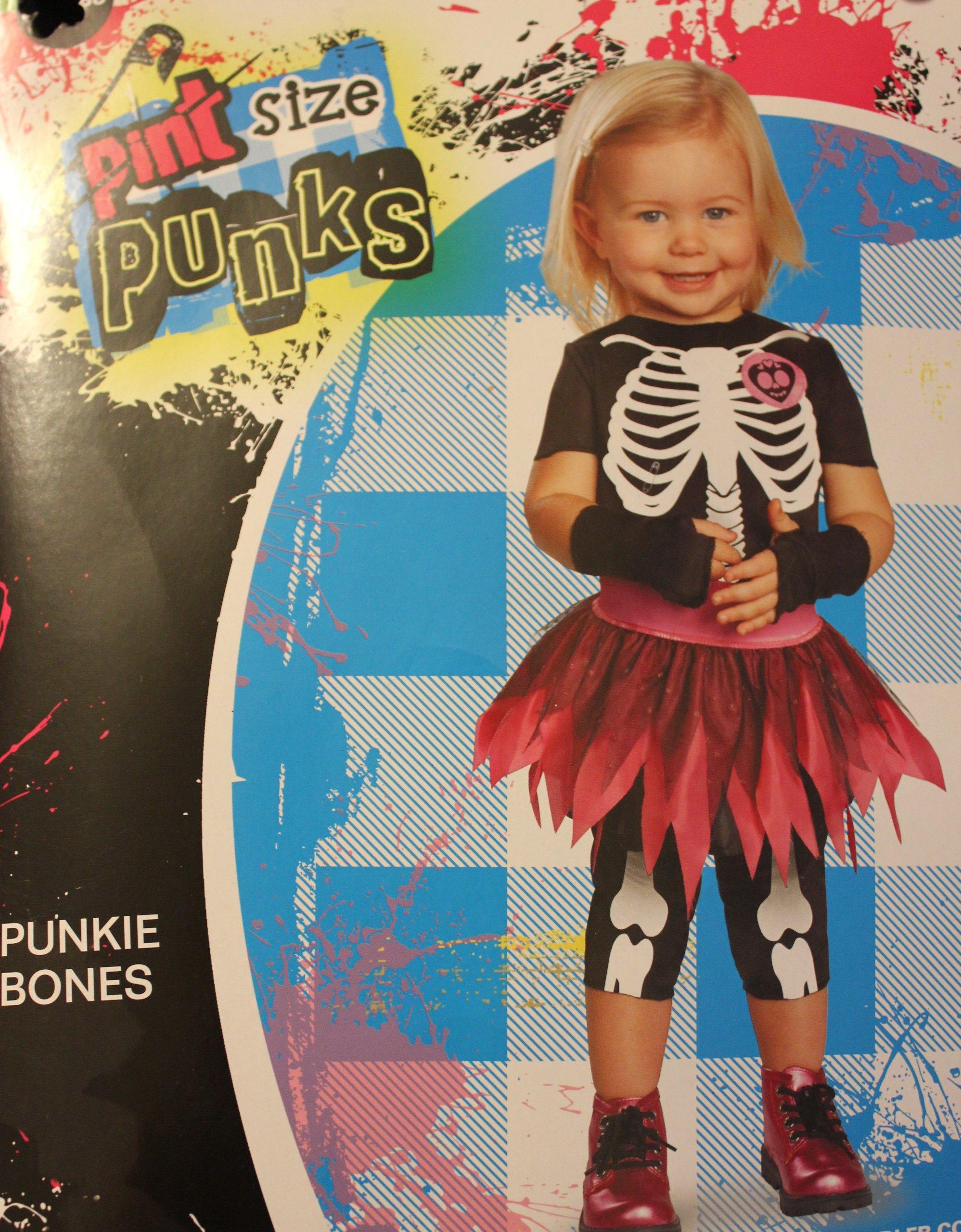 PINT SIZE PUNKS - PUNKIE BONES COSTUME (3T-4T)